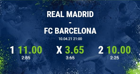 bet at home real madrid fc barcelona el clasico primera division erhöhte Quoten wetten