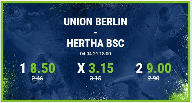 union berlin hertha bsc berliner derby bundesliga wette quote angebot bet at home