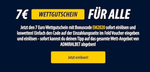 ADMIRALbet EM 7 Euro