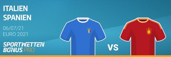Italien Spanien Wette Quoten Vergleich Angebot EM Halbfinale