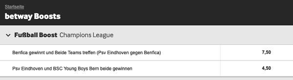 betway boost champions league qualifikation angebot odds boost