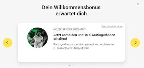 Unibet 10 Euro gratis